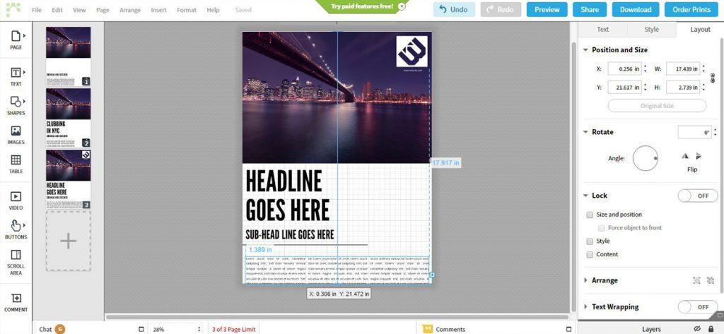 Lucidpress, un logiciel en ligne de mise en page