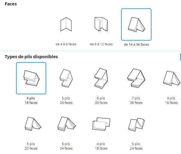 Interface pour créer un dépliant en ligne sur Pixartprinting