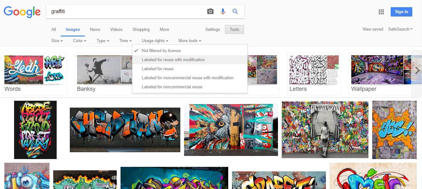 Masque de recherche de photos gratuites sur Google