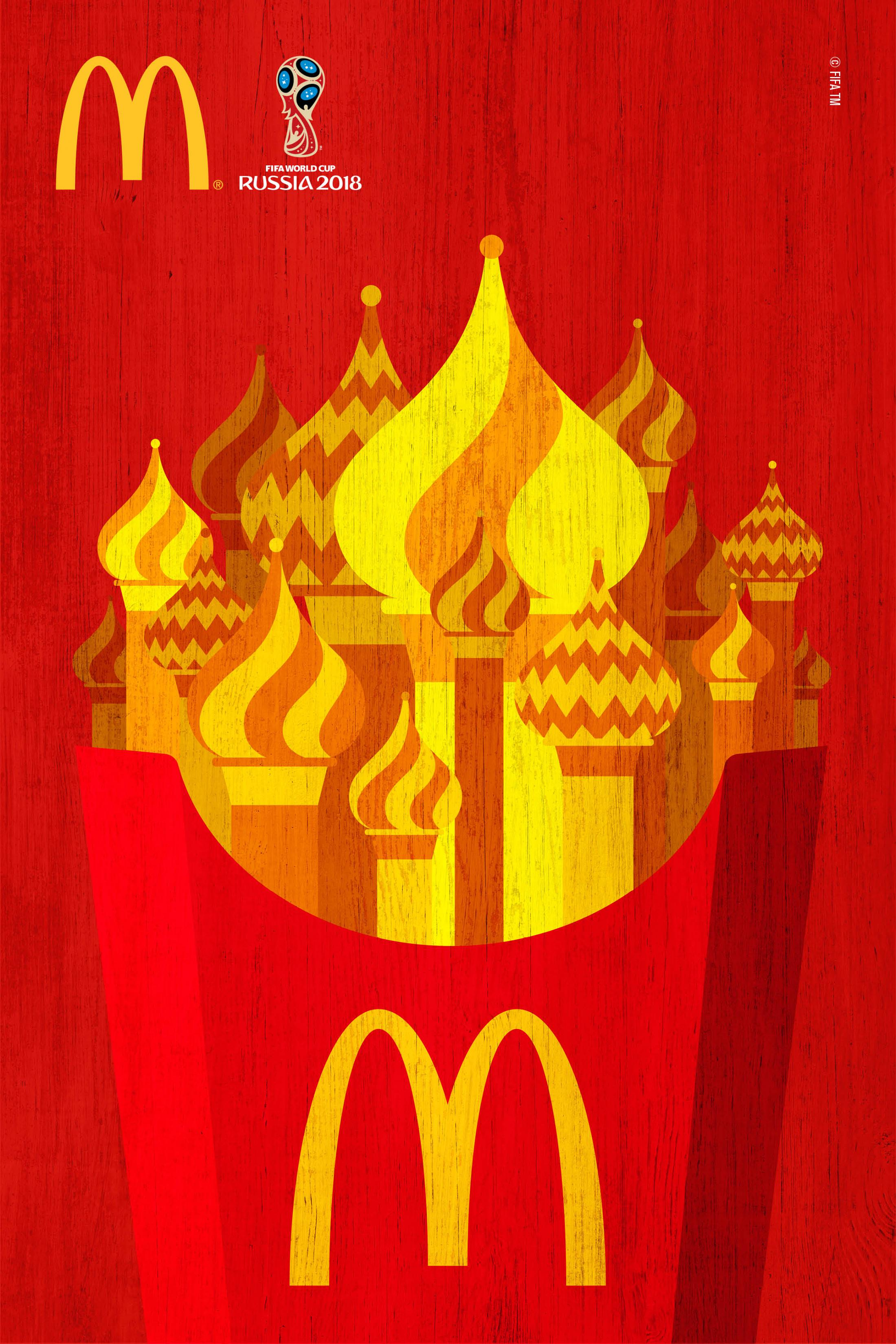 Print advertisement created by DPZ&T, Brazil for McDonald's