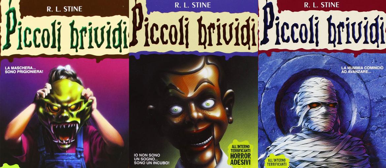 """Quelques couvertures de """"Piccoli Brividi"""". Livres publiés par Mondadori en Italie."""