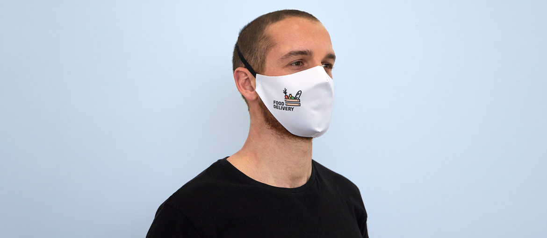 Un masque en tissu: facilement réutilisable